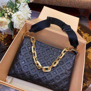 Ŀouis Vuittοn Black Shoulder Crossbody Bag